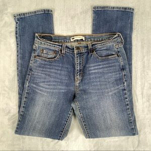 Levis 505 Straight Leg Long Mid Rise Faded Blue Jeans Size 10 L/C Inseam 32